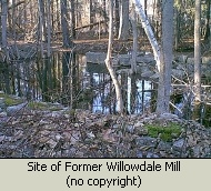 Photo of Willowdale Mill site on Ipswich River